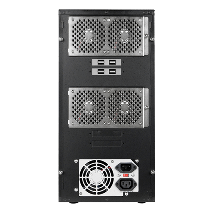 "DAGE840TG5-ES, 8x 3.5""/2.5"" Hotswap Bays, 300W PSU, Black, Storage Tower"