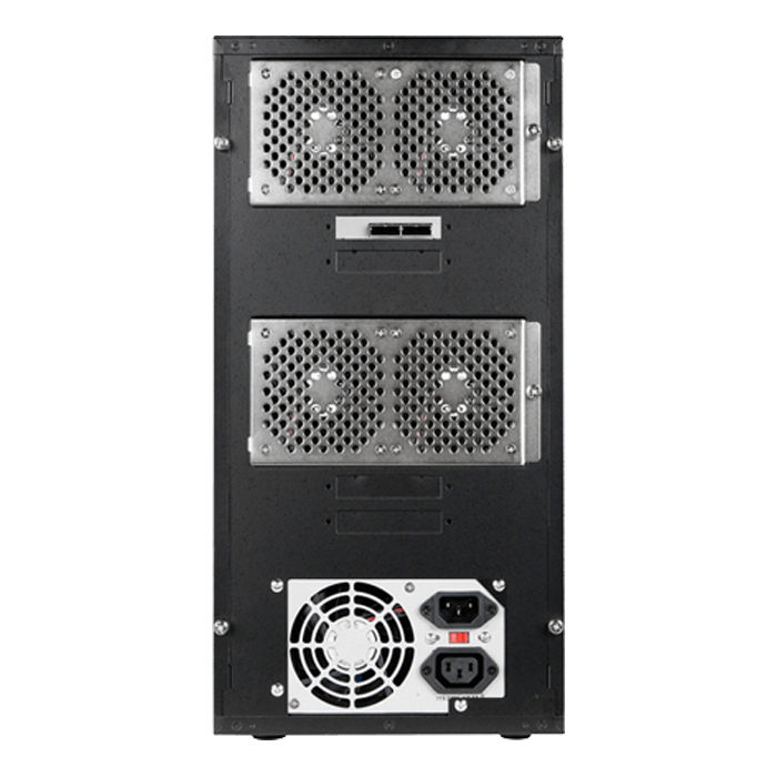 "DAGE840M1RD-2MS, Red HDD Handle, 8x 3.5"" Hotswap Bays, 300W PSU, Black/Red, Storage Tower"