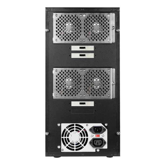 "DAGE1540BK-PM, Black HDD Handle, 15x 3.5""/2.5"" Hotswap Bays, 400W PSU, Black, Storage Tower"
