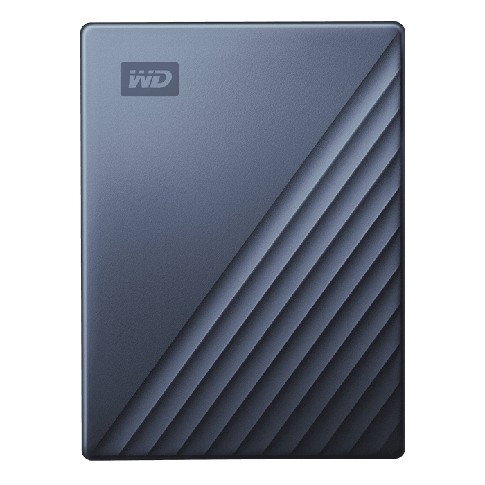 4TB My Passport Ultra, USB-C 3.0, Portable, Blue Black, External Hard Drive