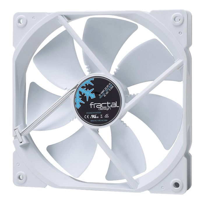 Dynamic X2 GP-14 White 140mm, 1000 RPM, 68.4 CFM, 18.9 dBA, Cooling Fan