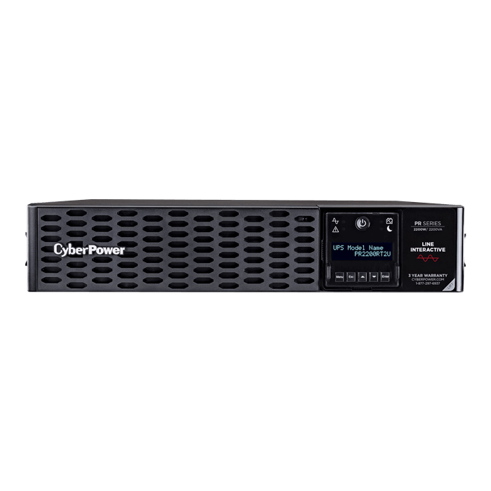 Smart App Sinewave PR2200RT2U, 2200VA/2200W, 120V, 8 Outlets, Black, Tower/2U Rackmount UPS