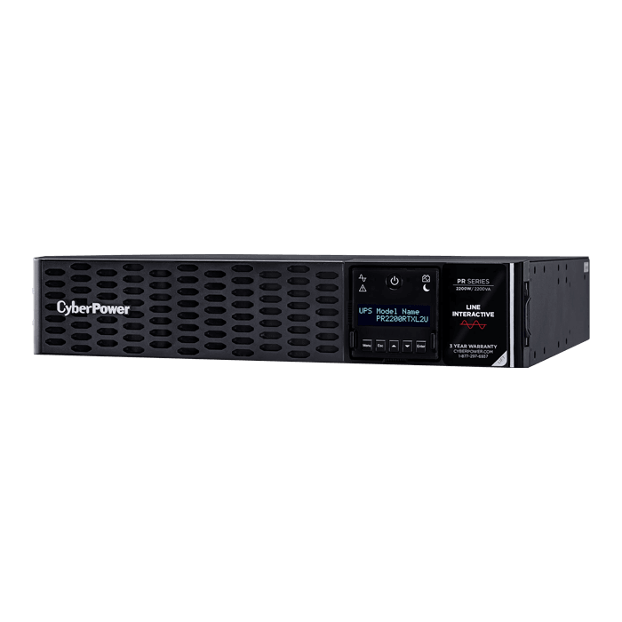 Smart App Sinewave PR2200RTXL2U, 2200VA/2200W, 120V, 8 Outlets, Black, Tower/2U Rackmount UPS