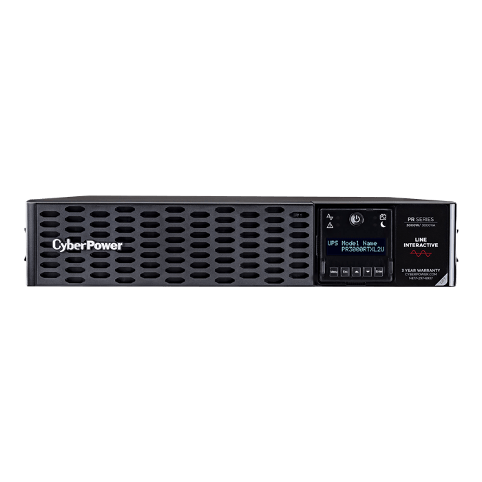 Smart App Sinewave PR3000RTXL2U, 3000VA/3000W, 120V, 9 Outlets, Black, Tower/2U Rackmount UPS