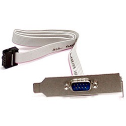 CBL-0010LP Serial Port Cable w/ Low-Profile Bracket, 9-pin, OEM
