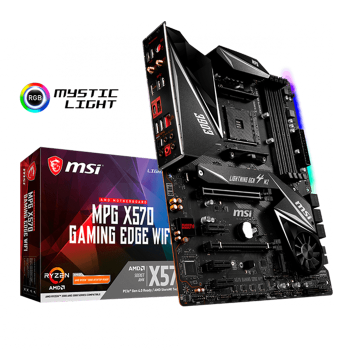 MPG X570 GAMING EDGE WIFI, AMD X570 Chipset, AM4, HDMI, ATX Motherboard
