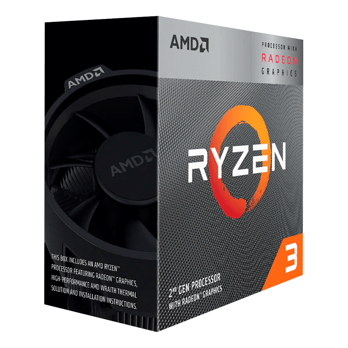 Ryzen™ 3 3200G 4-Core 3.6 - 4.0GHz Turbo, Radeon™ Vega 8 Graphics, AM4, 65W TDP, Retail Processor