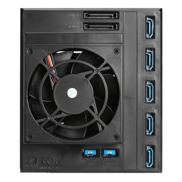 "BPN-DE350HD-BLUE Trayless 3x 5.25"" to 5x 3.5"" 12Gb/s HDD Hot-swap Rack"