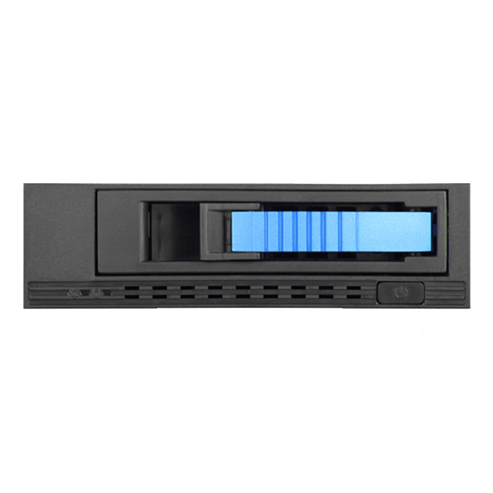 "T-7M1HD-BLUE 5.25"" to 3.5"" 2.5"" 12Gb/s HDD SSD Hot-swap Rack"
