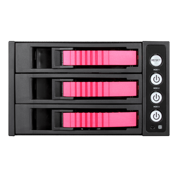 "BPU-230HD-RED 2x 5.25"" to 3x 3.5"" 2.5"" 12Gb/s HDD SSD Hot-swap Rack"