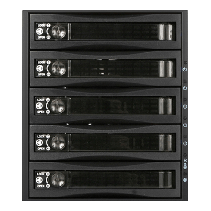 "BPU-350HD-BPL 3x 5.25"" to 5x 3.5"" 2.5"" 12Gb/s HDD SSD Hot-swap Rack"