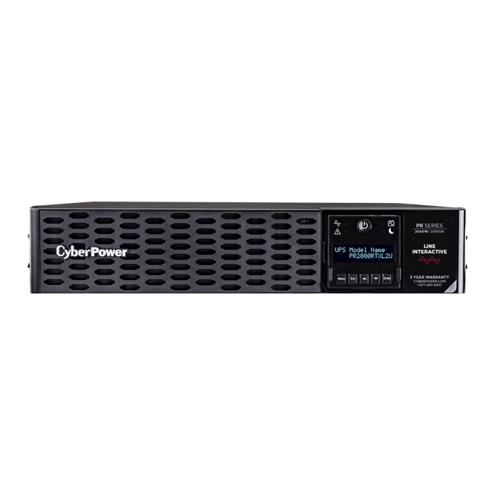 Smart App Sinewave PR2000RTXL2UN, 2000VA/2000W, 125V, 8 Outlets, Black, Tower/2U Rackmount UPS