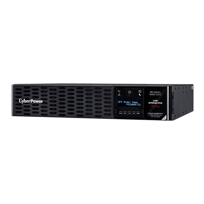 Smart App Sinewave PR2000RT2UN, 2000VA/2000W, 125V, 8 Outlets, Black, Tower/2U Rackmount UPS