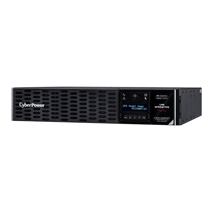 Smart App Sinewave PR1500RT2UN, 1500VA/1500W, 125V, 8 Outlets, Black, Tower/2U Rackmount UPS