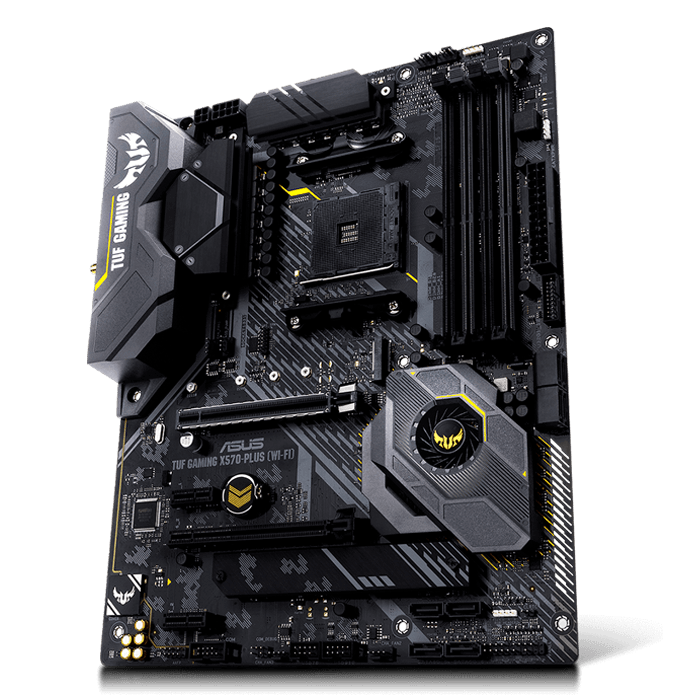 TUF GAMING X570-PLUS (WI-FI), AMD X570 Chipset, AM4, HDMI, ATX Motherboard