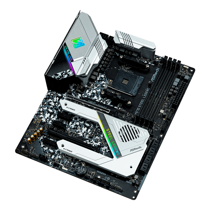 X570 Steel Legend, AMD X570 Chipset, AM4, HDMI, ATX Motherboard