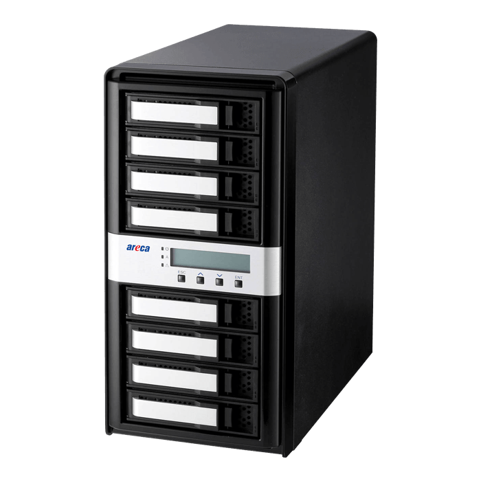 ARC-4038-8, 8-bays, 12Gb/s SAS/SATA Tower JBOD Enclosure
