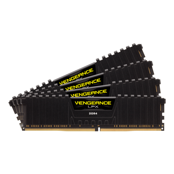 128GB Kit (4 x 32GB) Vengeance LPX DDR4 2666MHz, CL16, Black, DIMM Memory