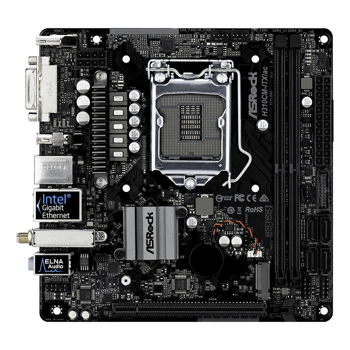 H310CM-ITX/ac, Intel H310 Chipset, LGA 1151, HDMI, Mini-ITX Motherboard