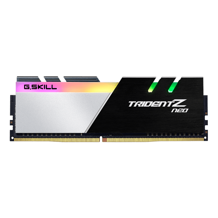 64GB Kit (4 x 16GB) Trident Z Neo DDR4 3600MHz, CL16-19-19-39, Black-Silver, RGB LED, DIMM Memory