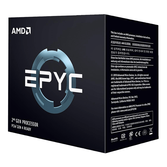 EPYC™ 7252 8-Core 3.1 - 3.2GHz Turbo, SP3, 120W, Processor