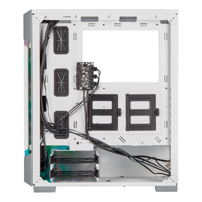 iCUE 220T RGB Airflow Tempered Glass, No PSU, ATX, White, Mid Tower Case