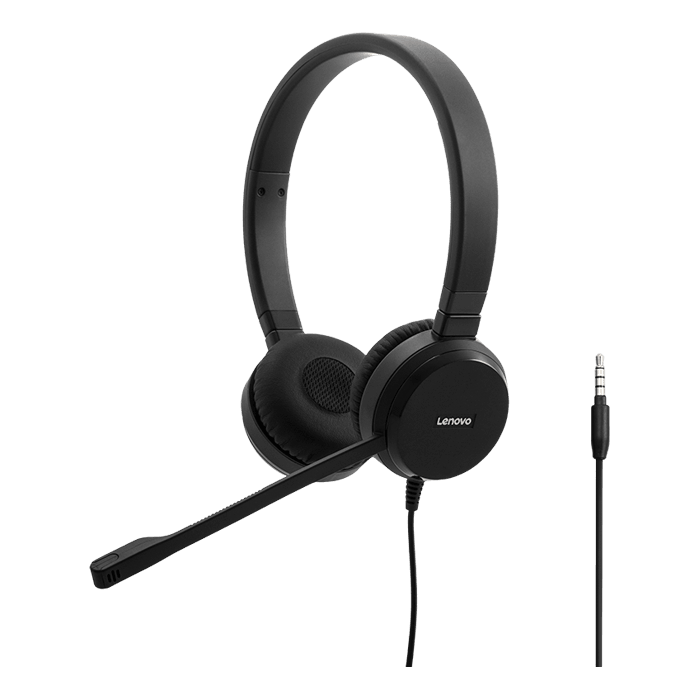 4XD0S92991, USB/3.5mm, Black, Stereo Headset