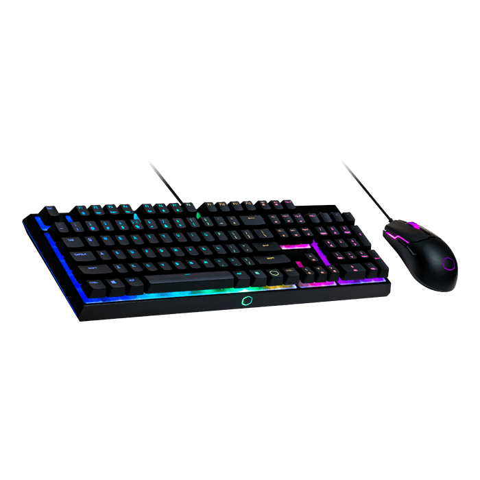 MS110, RGB LED, 3200 dpi, Wired USB, Black, Mem-chanical switches, Keyboard & Mouse