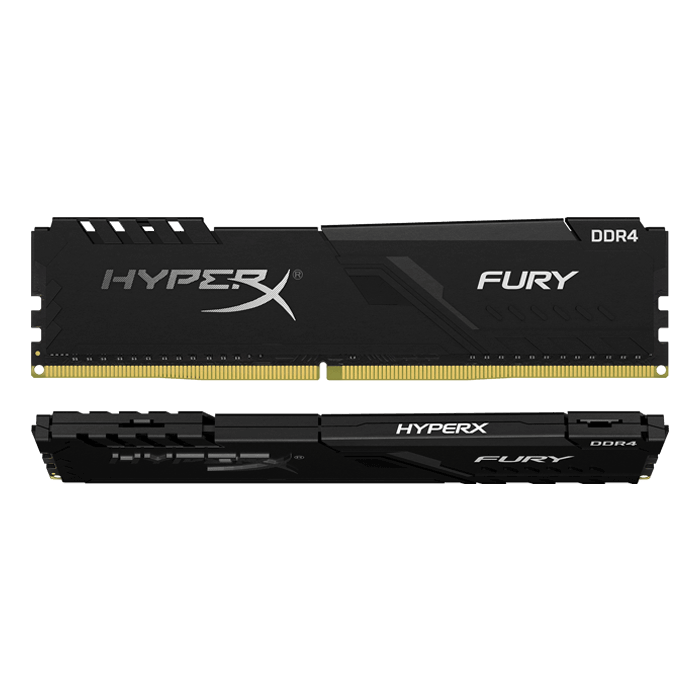 8GB Kit (2 x 4GB) HyperX FURY DDR4 3000MHz, CL15, Black, DIMM Memory