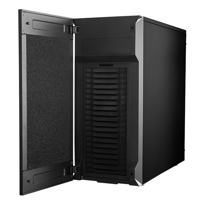 Silencio S600, Tempered Glass, No PSU, ATX, Black, Mid Tower Case