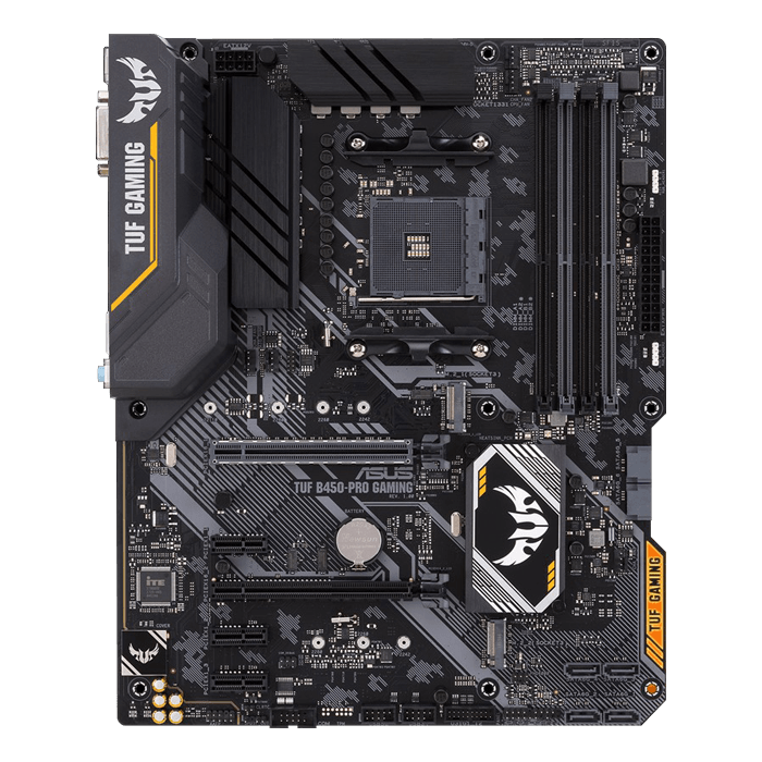 TUF B450-PRO GAMING, AMD B450 Chipset, AM4, HDMI, ATX Motherboard