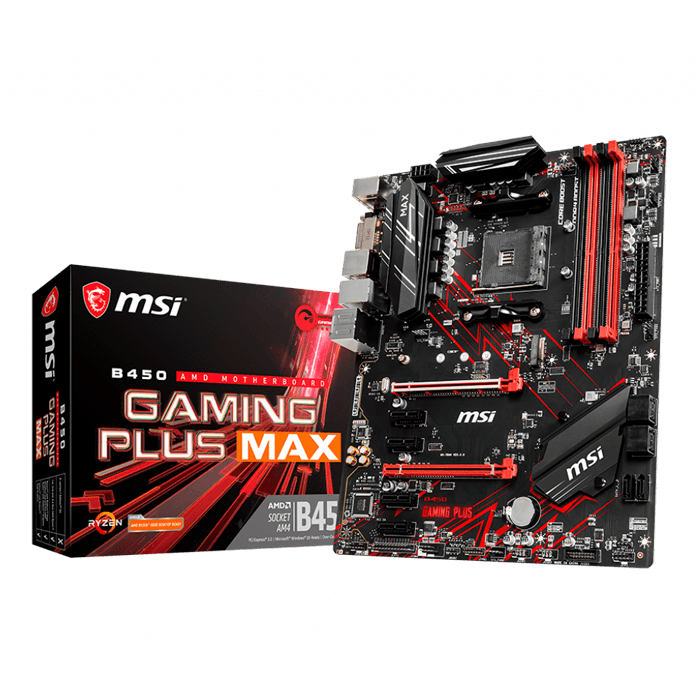 B450 GAMING PLUS MAX, AMD B450 Chipset, AM4, HDMI, ATX Motherboard