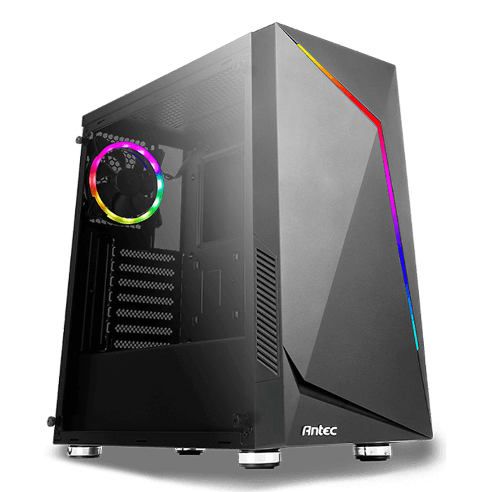 NX300 BLACK Tempered Glass, No PSU, ATX, Mid Tower Case