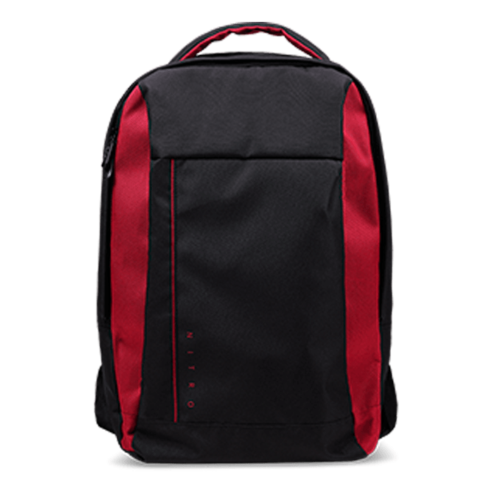 "Nitro Gaming Backpack - NBG810,  15.6"", Black/Red, Backpack Carrying Case"