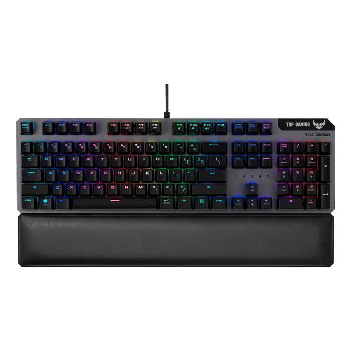 TUF Gaming K7, Aura Sync RGB LED, Optical-Mech Switches, Wired USB, Black, Gaming Keyboard