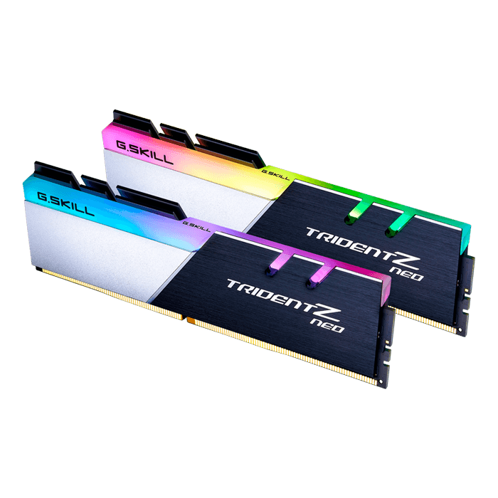16GB Kit (2 x 8GB) Trident Z Neo DDR4 3000MHz, CL16, Black-Silver, RGB LED, DIMM Memory
