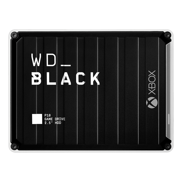 5TB WD_BLACK™ P10 Game Drive, USB 3.2 Gen 1, Portable, Black/White, External Hard Drive for Xbox One™