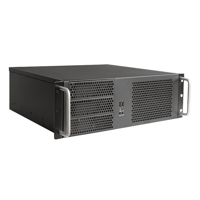 WD1880-D314MATX 18U 800mm Depth Simple Server Rack with 3U Compact Rackmount Chassis ATX Power Supply Compatible