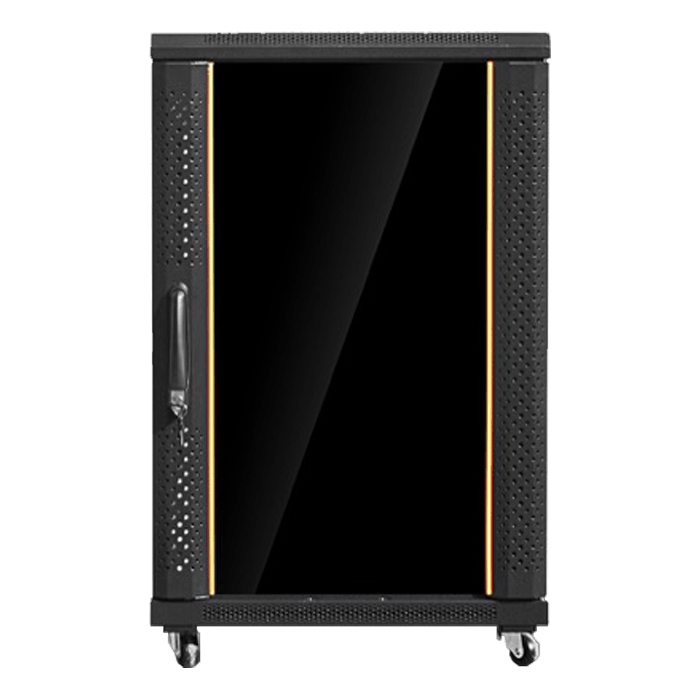 WNG1810-SFR96BDWR4UB 18U 1000mm Depth Rack-mount Server Cabinet with Heavy Duty Sliding Tray and 4U Sliding Drawer with Key Lock