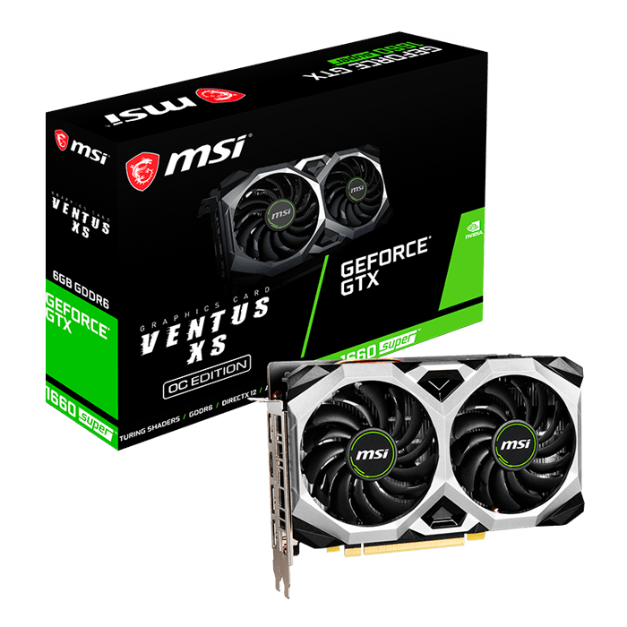 GeForce® GTX 1660 SUPER™ VENTUS XS OC, 1530 - 1815MHz, 6GB GDDR6, Graphics Card