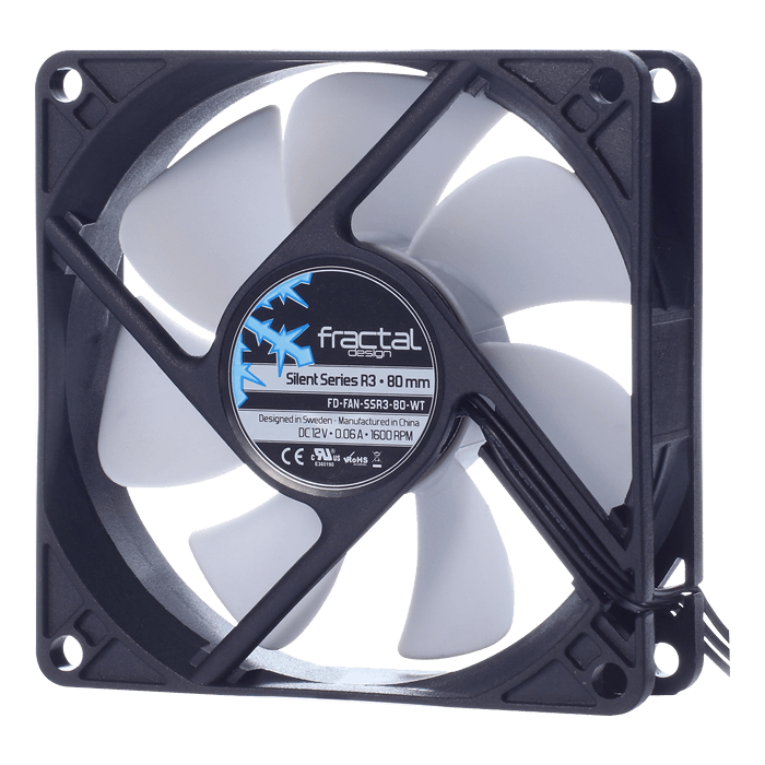 Silent Series R3 80 mm, 1600 RPM, 20.2 CFM, 18.1 dBA, Cooling Fan