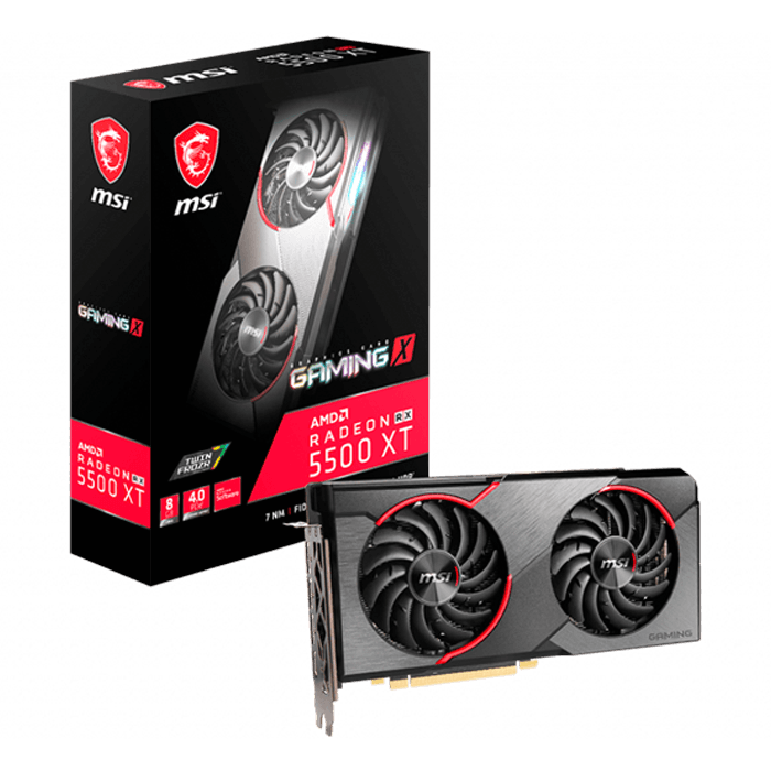 Radeon™ RX 5500 XT GAMING X 8G, 1685 - 1845MHz, 8GB GDDR6, Graphics Card