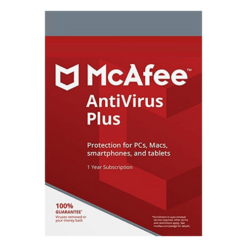 McAfee Antivirus Plus 1 Year, Unlimited Devices