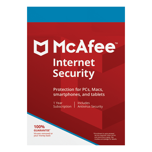 McAfee Internet Security 1 Year, 3 Devices