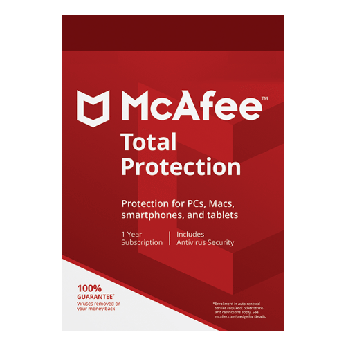 McAfee Total Protection 1 Year, 3 Devices