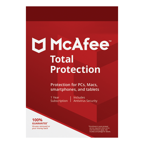McAfee Total Protection 1 Year, 5 Devices