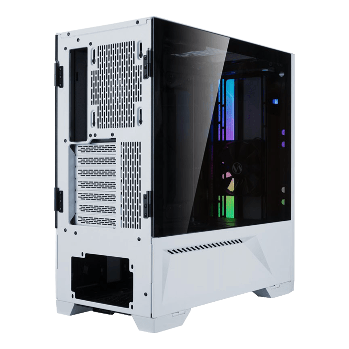 LANCOOL II-W Tempered Glass, No PSU, E-ATX, White, Mid Tower Case