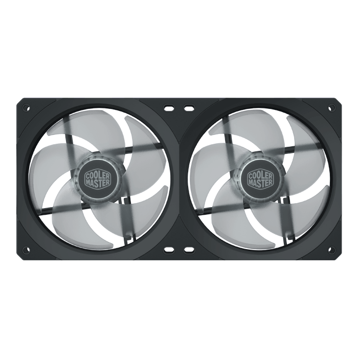 MasterFan SF240R ARGB 240mm, 1800 RPM, 2 x 43 CFM, 30 dBA, Cooling Fan