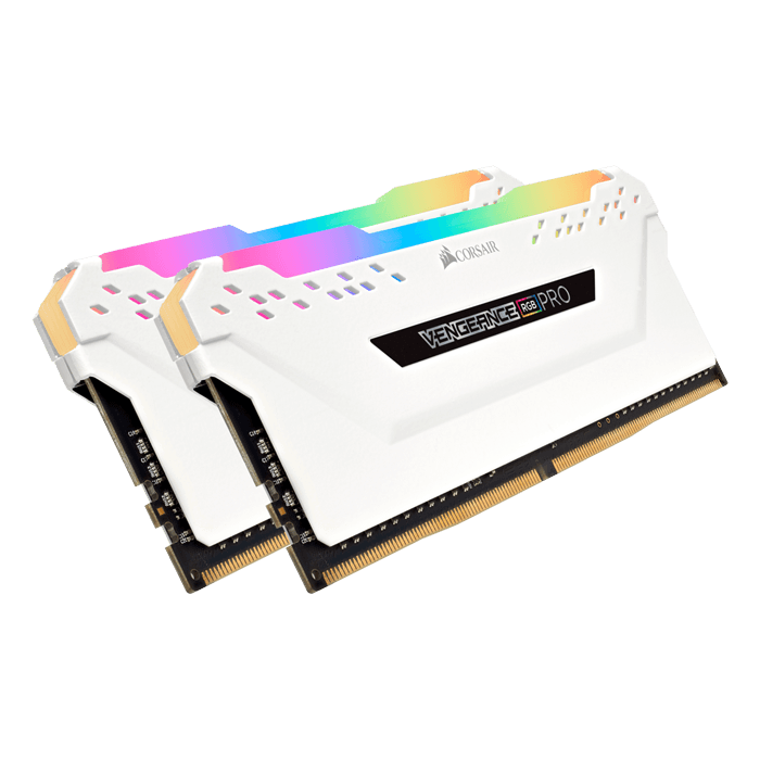 32GB Kit (2 x 16GB) Vengeance RGB Pro DDR4 3000MHz, CL15, White, RGB LED, DIMM Memory