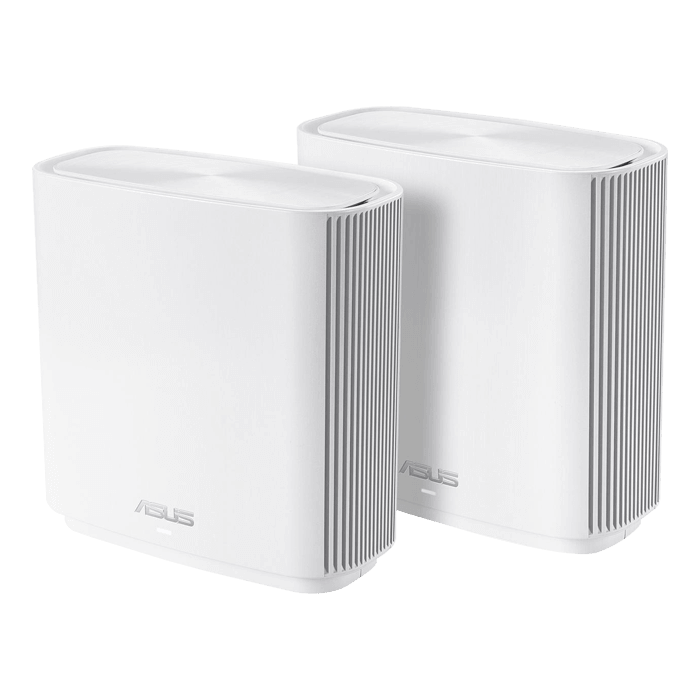 ZenWiFi AC3000 White WiFi Mesh System (CT8 2 Pack), IEEE 802.11ac, Tri-Band 2.4 / 5GHz / 5GHz, 400 / 867 / 1733 Mbps, 3xRJ45, 1x USB 3.0, Retail Wireless Router